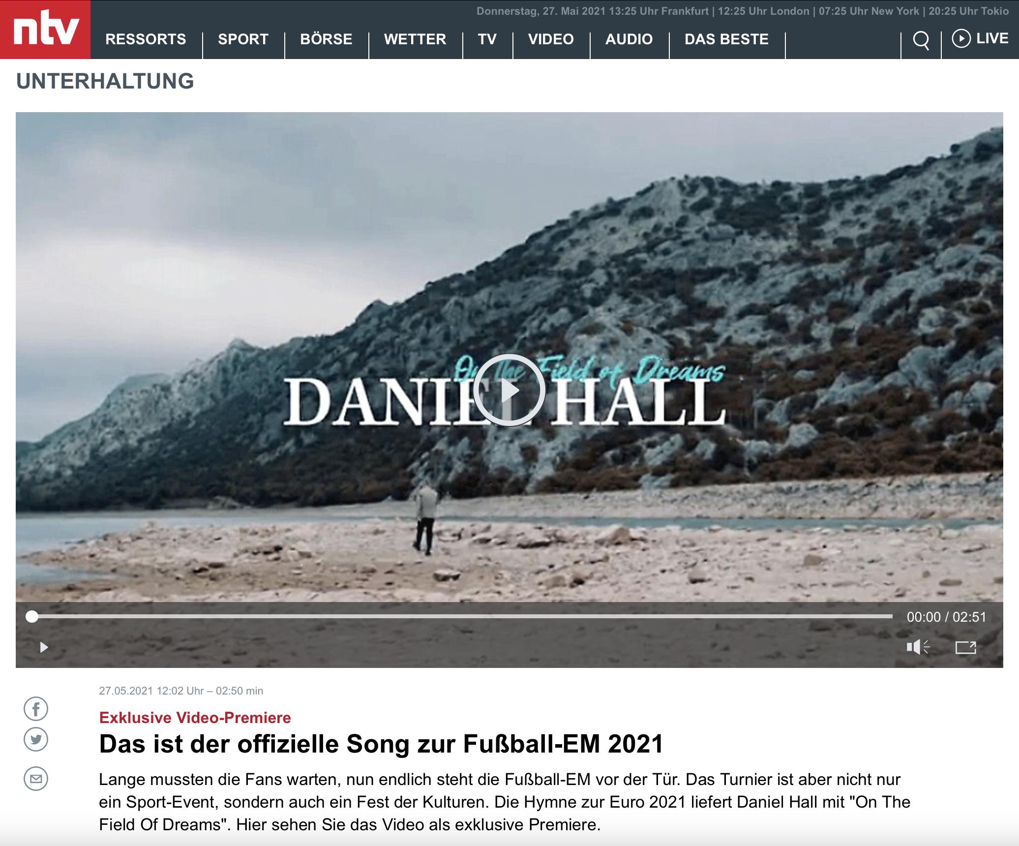 DanielHall-NTV-Video-Premiere